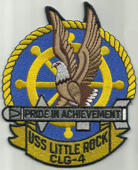CLG-4 USS LITTLE ROCK GUIDED MISSILE LIGHT CRUISER ACHIEVEMENT MILITARY PATCH