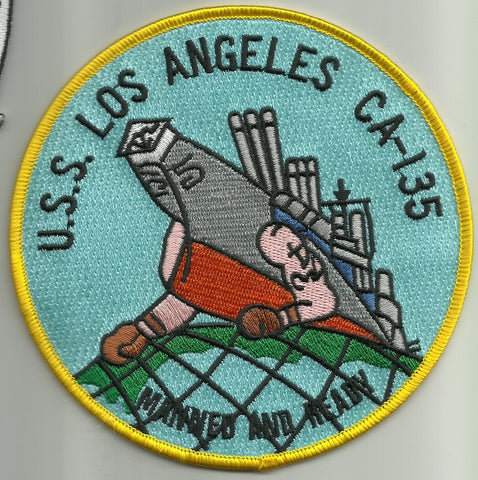 CA-135 USS LOS ANGELES Heavy Cruiser Ship Military Patch MANNED AND READY