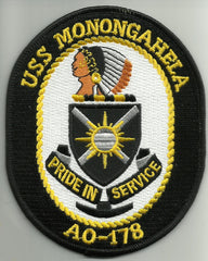 AO 178 USS MONONGAHELA Fleet Replenishment Oiler Ship Crest Military Patch PRIDE IN SERVICE