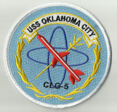 CLG-5 USS OKLAHOMA CITY GUIDED MISSILE LIGHT CRUISER MILITARY PATCH