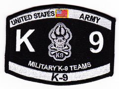 United States ARMY Military K-9 Teams MOS Military Patch