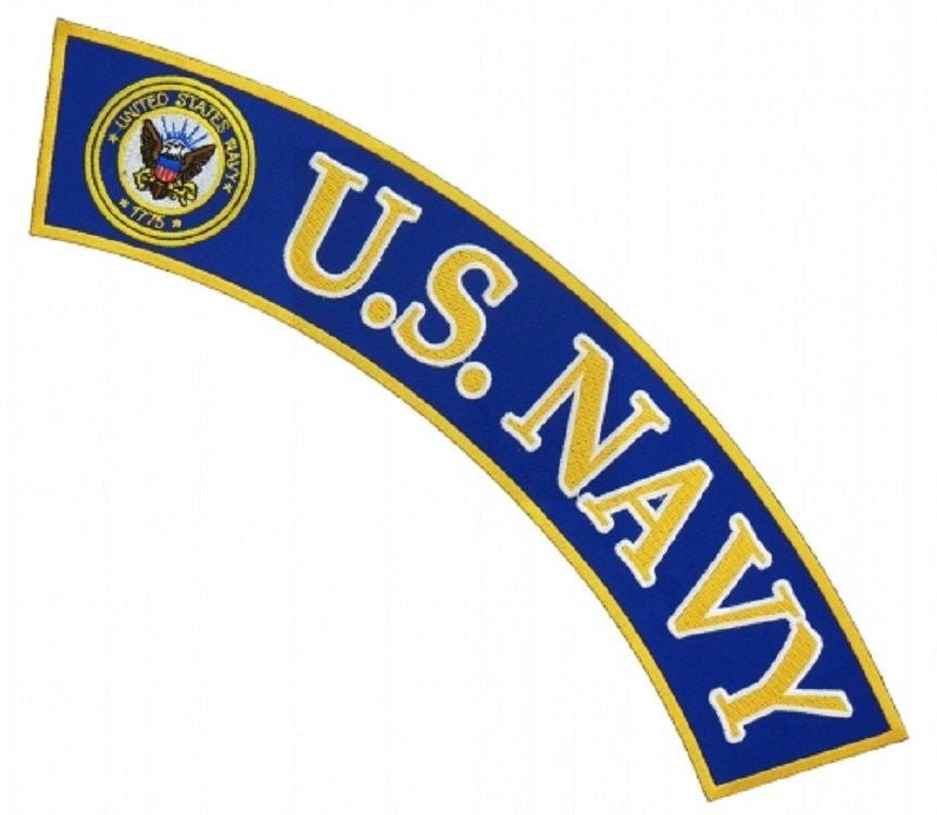 U.S. NAVY LOGO TOP UPPER ROCKER PATCH | USMILITARYPATCH.COM