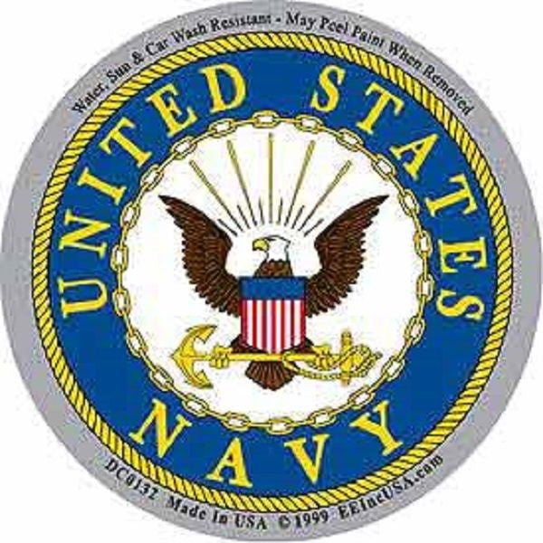 United States Navy Logo Sticker Usmilitarypatch