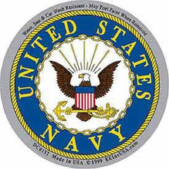 UNITED STATES NAVY LOGO STICKER