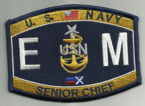 Senior Chief Electrician's Mate Rating Navy Military Patch EMCS