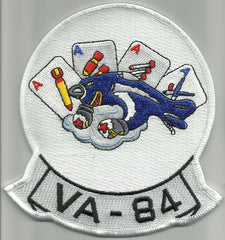 NAVY VA-84 Vertical Attack Squadron Military Patch FOUR ACE'S