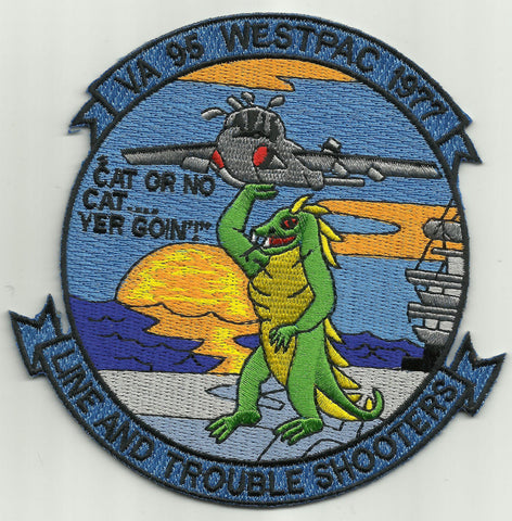 WESTPAC 1977 Line and Trouble VA-95 USN Military Patch