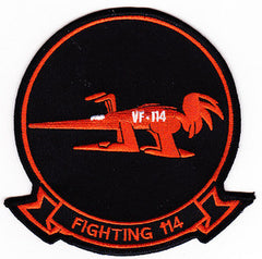 NAVY VF-114 TACTICAL FIGHTER ADVERSARY SQUADRON MILITARY PATCH AARDVARKS FIGHTING 114