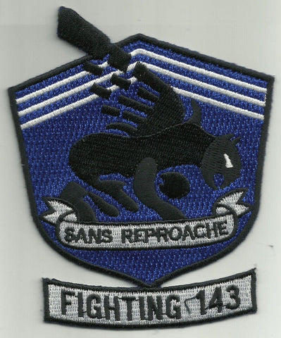 VF-143 Aviation Fighter Squadron FIGHTING 143 Military Patch PUKIN' DOGS