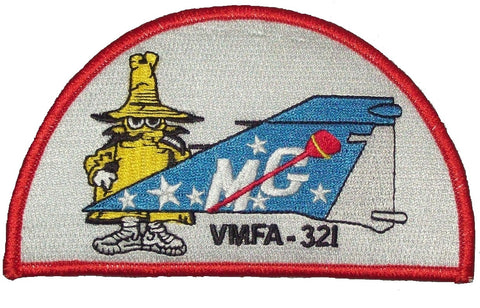 "USMC VMFA-321 MARINE FIGHTER ""HELLS ANGELS"" PHANTOM TAIL MILITARY PATCH - SPOOK"