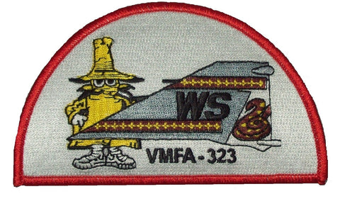 "USMC VMFA-323 MARINE FIGHTER ""DEATH RATTLERS"" PHANTOM TAIL MILITARY PATCH- SPOOK"