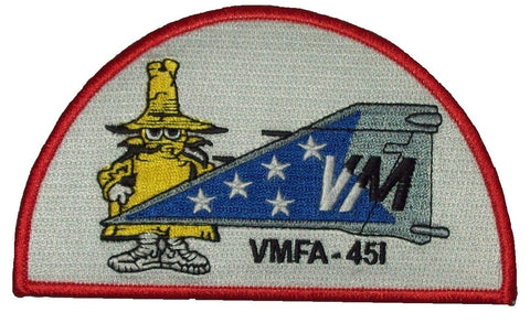 "USMC VMFA-451 MARINE FIGHTER ""WARLORDS"" PHANTOM TAIL MILITARY PATCH - SPOOK"