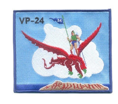 NAVY AVIATION PATROL SQUADRON TWENTY FOUR VP-24 MILITARY PATCH PATRON 24