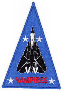 NAVY VX-9 TOMCAT Aviation Test and Evaluation Squadron Nine Military Patch VAMPIRES
