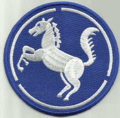 REPUBLIC OF KOREA 9th INFANTRY DIVISION MILITARY PATCH BAEKMA WHITEHORSE
