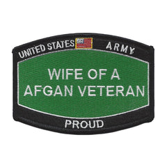 PROUD Wife Of A AFGAN Veteran ARMY Patch