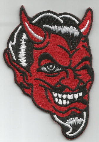RED DEVIL FACE WINKING