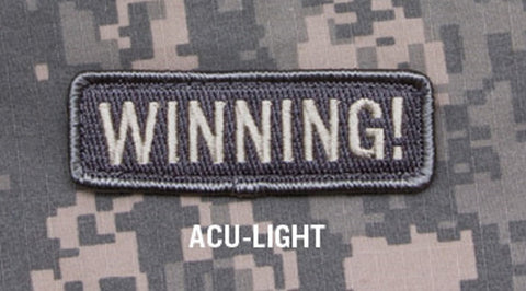 WINNING! ACU LIGHT SPECIAL BLACK OPS TACTICAL BADGE MORALE VELCRO MILITARY PATCH