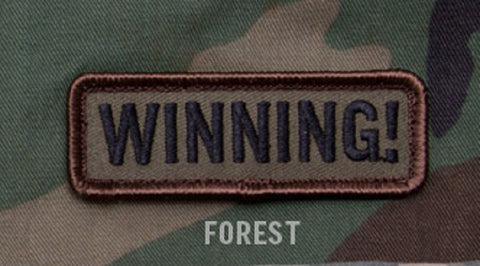 WINNING! FOREST SPECIAL BLACK OPS TACTICAL BADGE MORALE VELCRO MILITARY PATCH