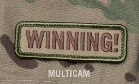 WINNING! MULTICAM SPECIAL BLACK OPS TACTICAL BADGE MORALE VELCRO MILITARY PATCH