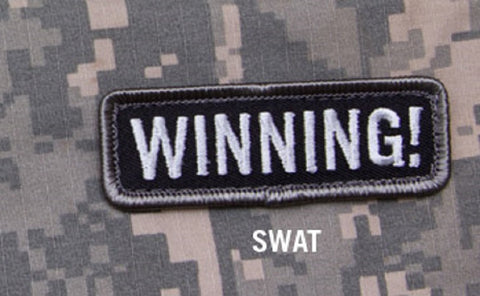 WINNING! SWAT SPECIAL BLACK OPS TACTICAL BADGE MORALE VELCRO MILITARY PATCH