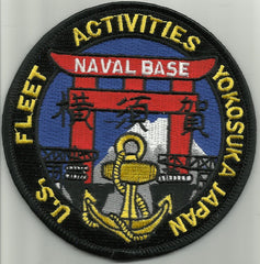 Naval Base YOKOSUKA JAPAN Military Patch US FLEET ACTIVITIES