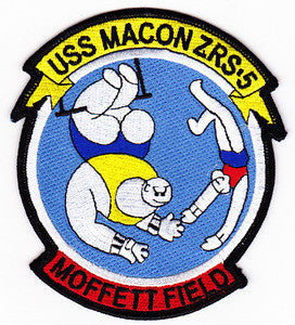 ZRS-5 USS MACON US NAVY Airship for Scouting and Flying Aircraft Carrier Military Patch MOFFETT FIELD