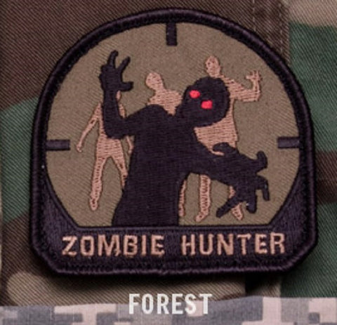 ZOMBIE HUNTER Hook Backing Patch - Forest