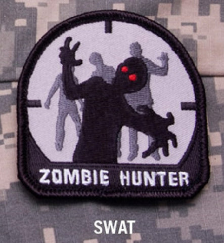ZOMBIE HUNTER BLACK  OPS TACTICAL BADGE MORALE VELCRO MILITARY PATCH - SWAT