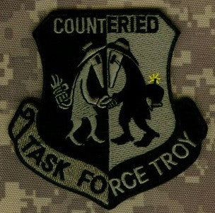COUNTER IED TASK FORCE TROY OEF OIF VELCRO MILITARY PATCH - ACU