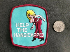 HELP THE HANDICAPPED funny RACING  hot rod jacket PATCH