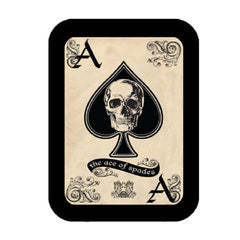 ACE OF SPADES DEATH CARD LEATHER PATCH
