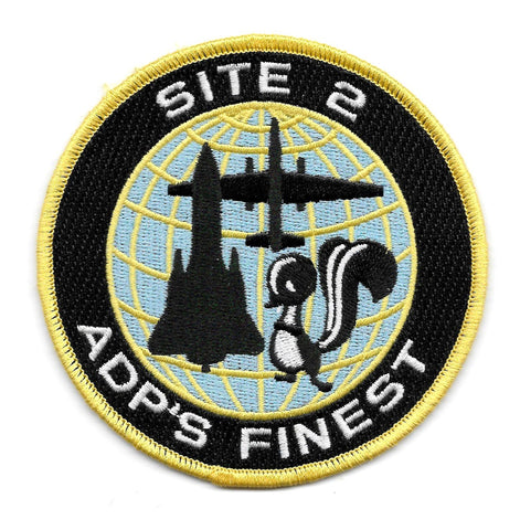 USAF LOCKHEED MARTIN SKUNK WORKS ADP'S FINEST SITE 2 MILITARY PATCH