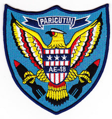 AE-18 USS PARICUTIN Ammunition Ship Military Patch