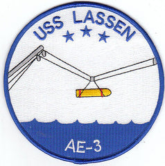AE-3 USS Lassen Ammunition Ship Military Patch