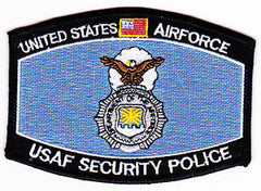 UNITED STATES AIR FORCE USAF SECURITY POLICE MOS MILITARY PATCH