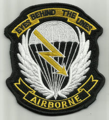 AIRBORNE EYES BEHIND THE LINES MILITARY PATCH