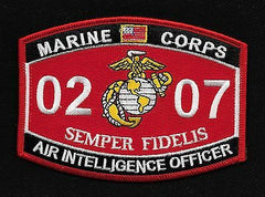 0207 AIR INTELLIGENCE OFFICER USMC MOS MILITARY PATCH