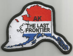 "ALASKA - THE LAST FRONTIER ""USA FLAG"" PATCH"