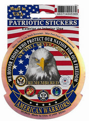 AMERICAN WARRIORS EAGLE MILITARY  STICKER