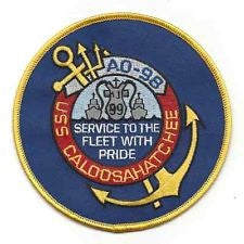 AO 98 USS CALOOSAHATCHE Fleet Oiler Ship Military Patch Version A