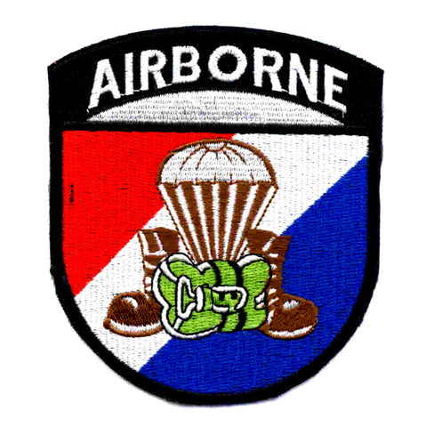 Army Airborne Parachute Boots & Pack Military Patch