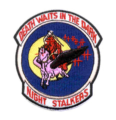 ARMY 160th Special Operations Aviation Regiment 101st Airbrone Division Military Patch NIGHT SALKERS DEATH WAITS IN THE DARK