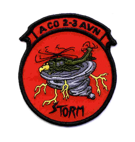ARMY 2nd Battalion 3rd Aviation Regiment A Company Military Patch STORM