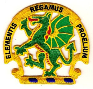 ARMY Chemical School Military Patch ELEMENTIS REGAMUS PROELIUM DRAGON