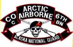ARMY 207th Airborne Infantry Group C Company 6th Battalion Military Patch ARCTIC WARRIORS Alaska National Guard Patch