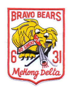 ARMY 31st Infantry Regiment Military Patch BRAVO BEARS MEKONG DELTA