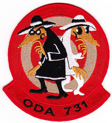 ARMY Co C 1st Battalion 7th Special Forces Group Operational Detachment Alpha ODA-731 Military Patch SPY VS SPY