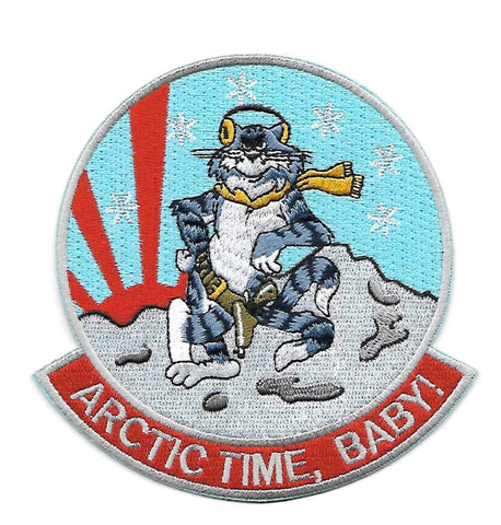 VF-111 ARCTIC TIME, BABY! Tomcat Navy Military Patch