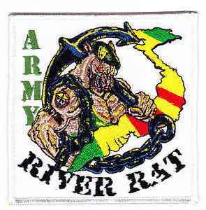 RIVER RAT United States Brown Water Army Vietnam Military Patch